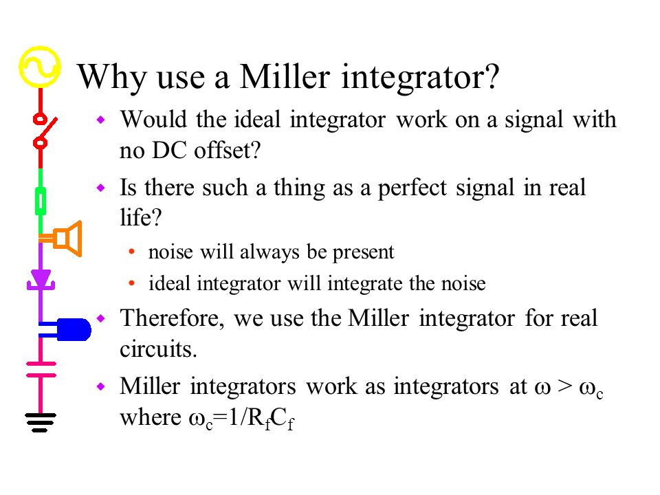 Why use a Miller integrator