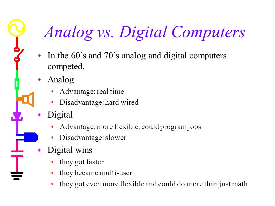 Analog vs. Digital Computers