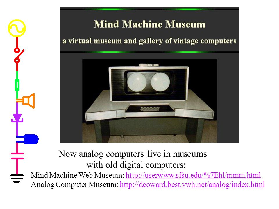 Now analog computers live in museums with old digital computers: