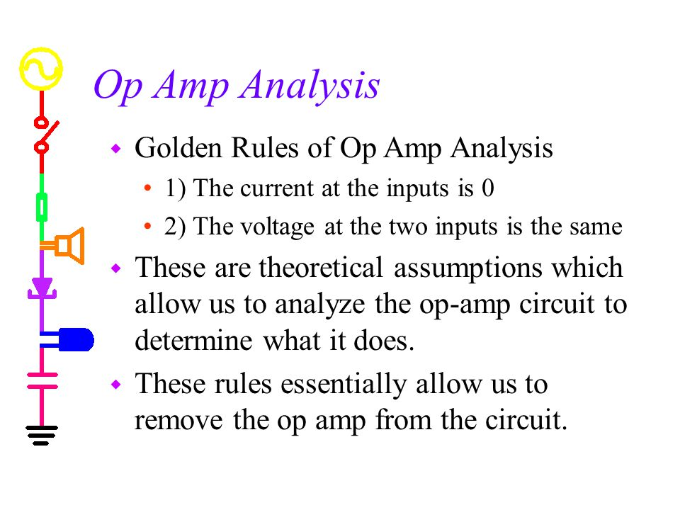 Op Amp Analysis Golden Rules of Op Amp Analysis