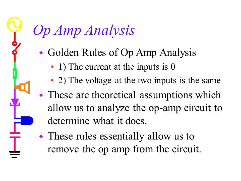 Op Amp Analysis Golden Rules of Op Amp Analysis
