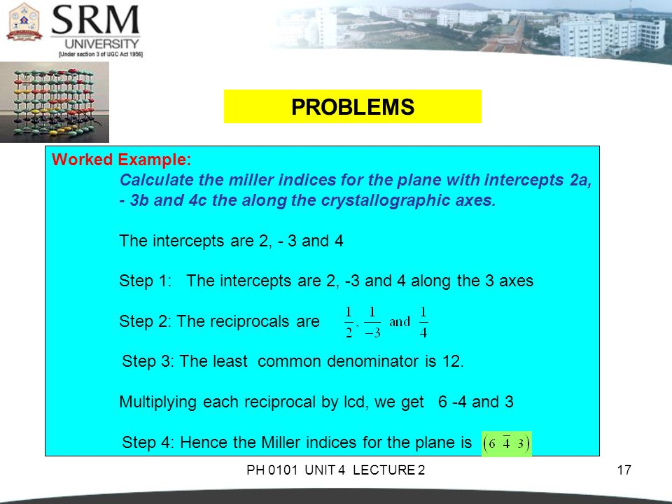 PROBLEMS Worked Example: