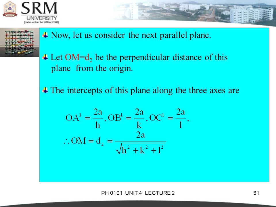 Now, let us consider the next parallel plane.