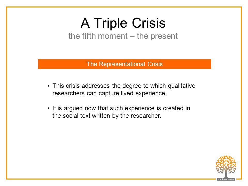 A Triple Crisis the fifth moment – the present