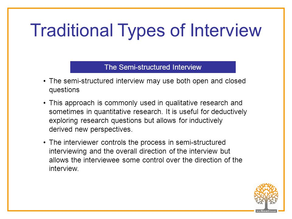 Traditional Types of Interview