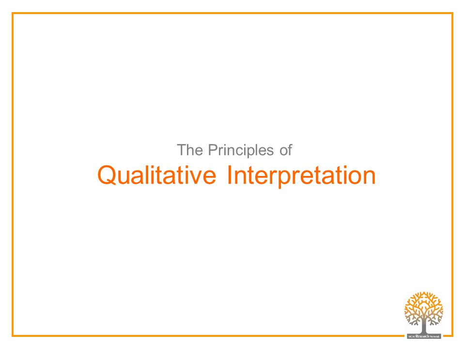 Qualitative Interpretation