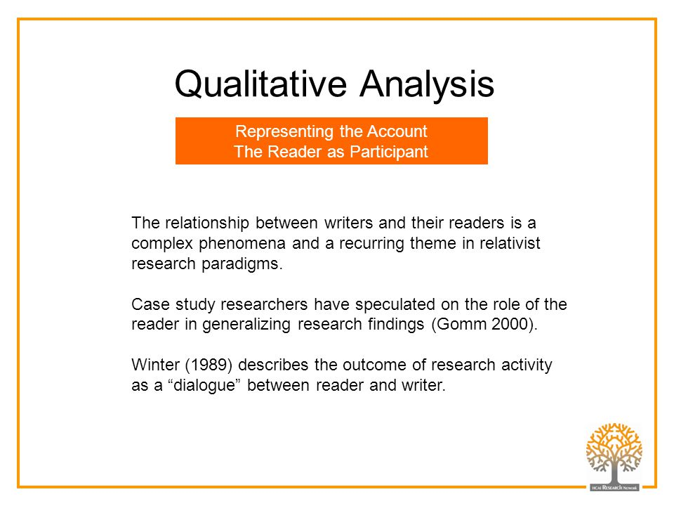 Qualitative Analysis Representing the Account
