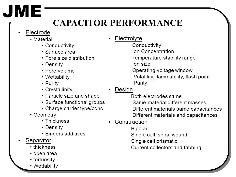 EC FREQUENCY RESPONSE Much different from other capacitor types