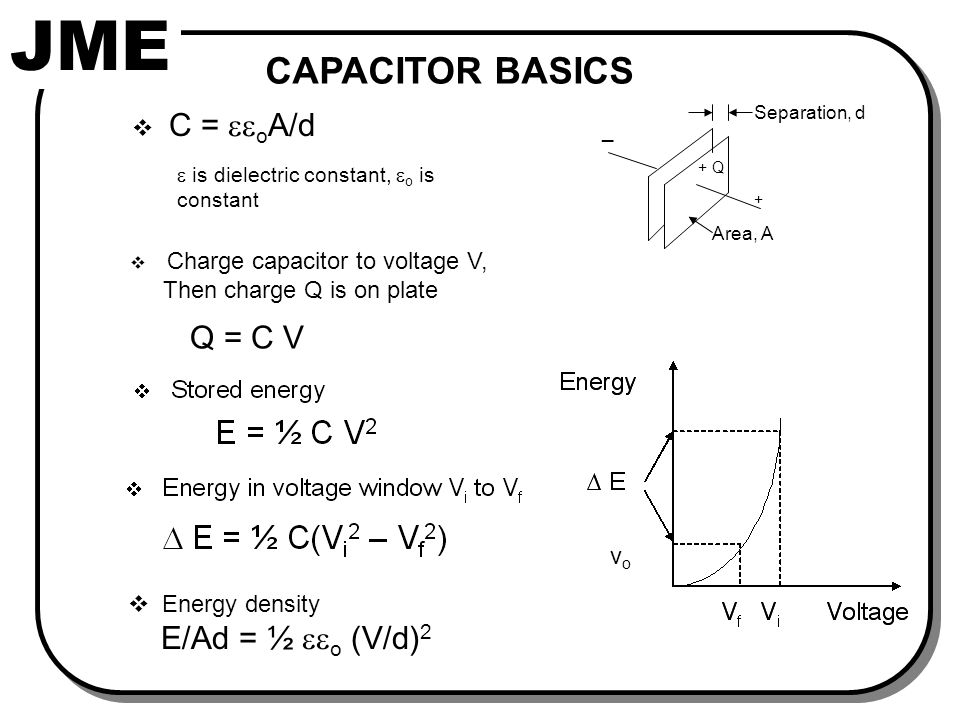 Capacitor Battery ENERGY STORAGE COMPONENTS Secondary (rechargeable)
