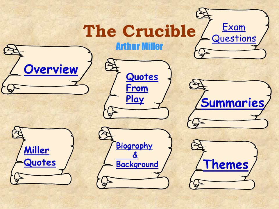 an analysis of the crucible by arthur miller The crucible arthur miller a note on the historical accuracy of this play this play is not history in the sense in which the word is used by the academic.