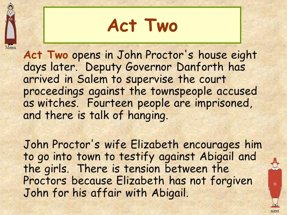 Act Two Menu.