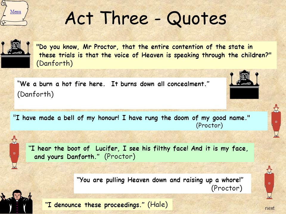 crucible important quotes act 3