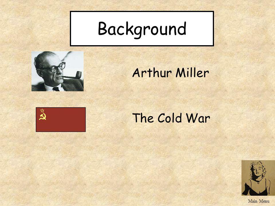 Background Arthur Miller The Cold War Main Menu