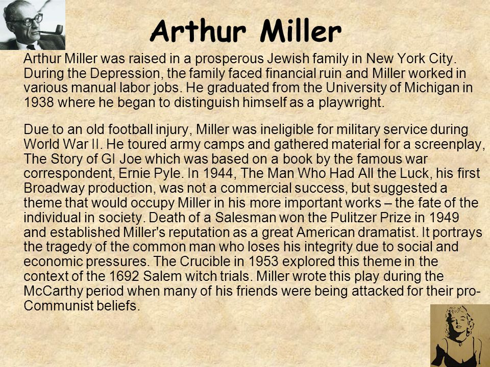an analysis of the puritans and their representation in the crucible by arthur miller and the scarle Literary analysis of the crucible literary analysis paper arthur miller is a great author salem was populated by puritans who believed in black-and.