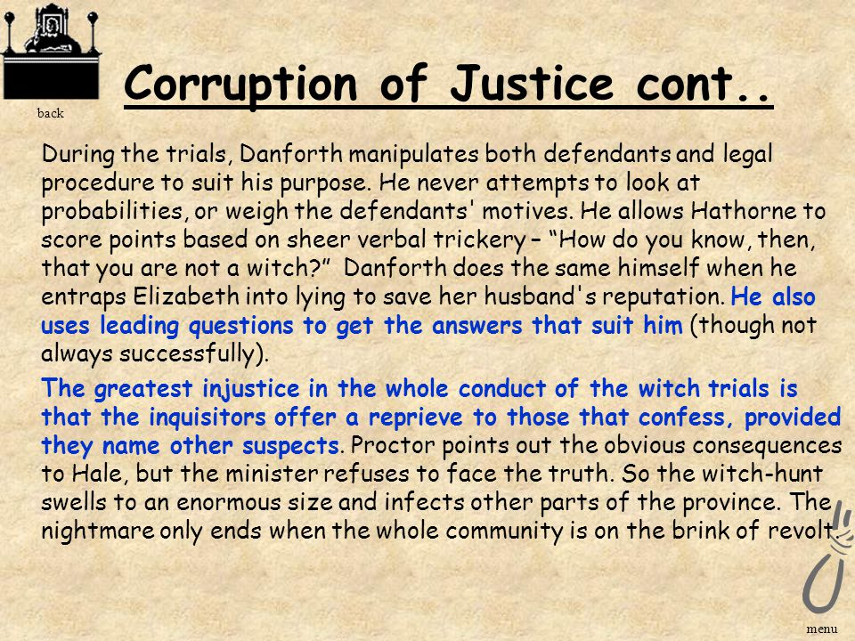 Corruption of Justice cont..