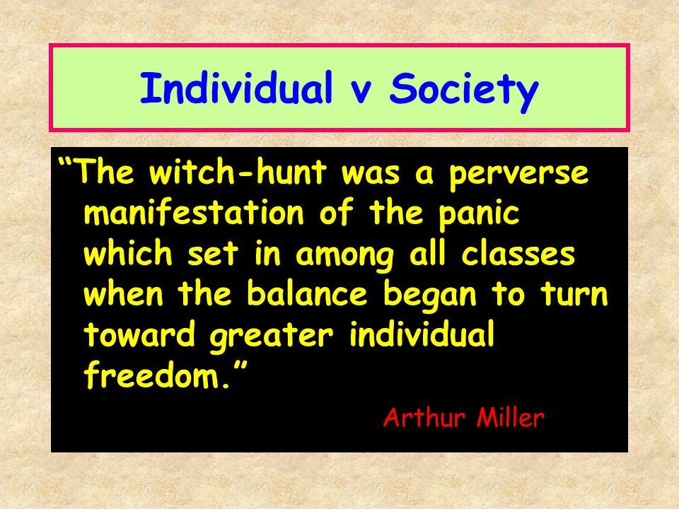 Individual v Society