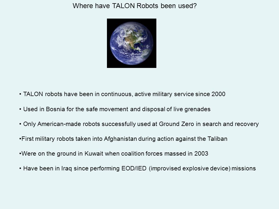 Where have TALON Robots been used