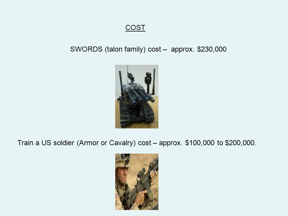 COST SWORDS (talon family) cost – approx. $230,000.