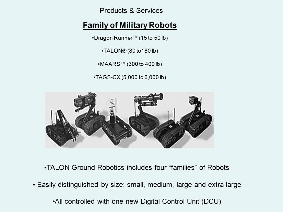 Family of Military Robots