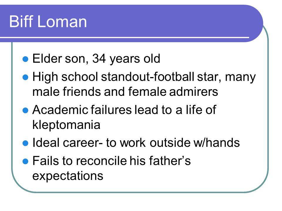 Biff Loman Elder son, 34 years old