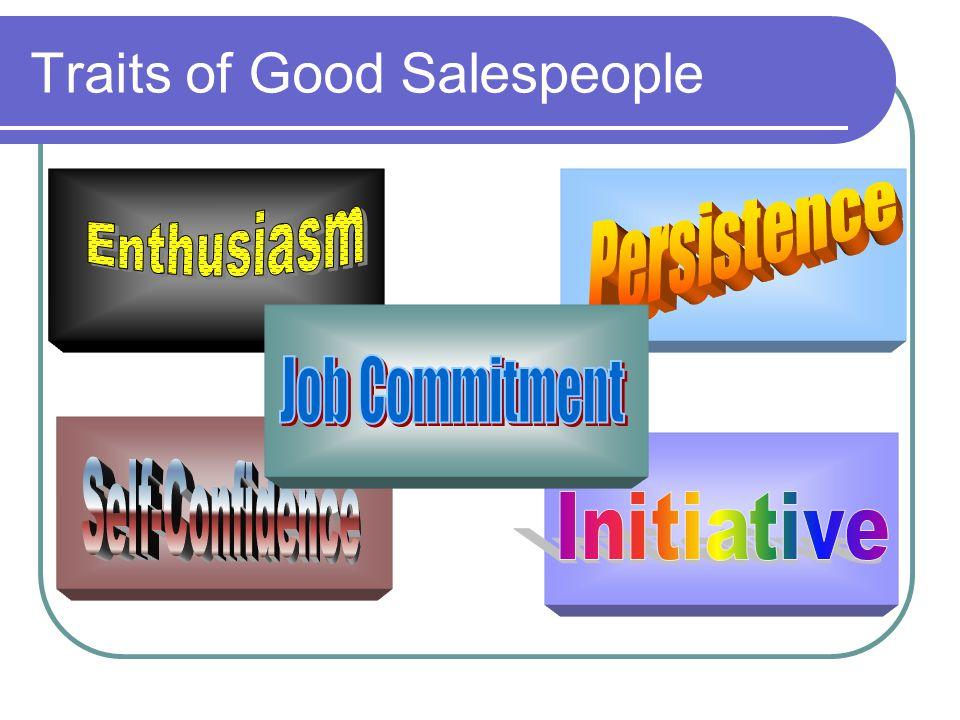 Traits of Good Salespeople
