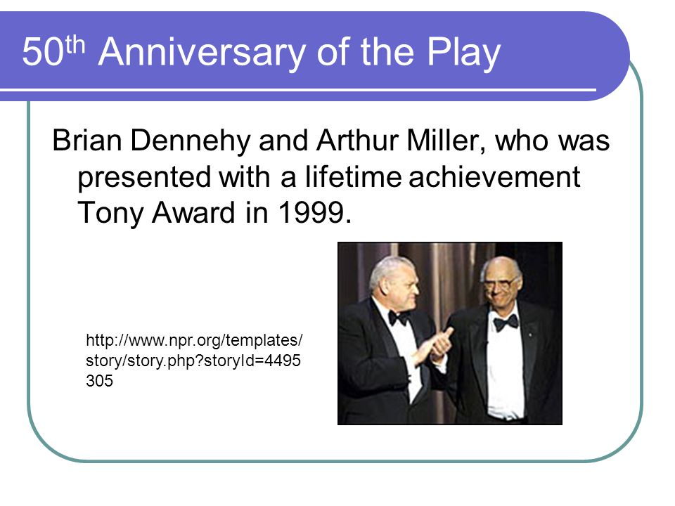 50th Anniversary of the Play