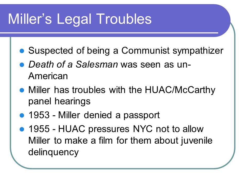 Miller's Legal Troubles