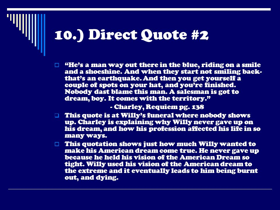 10.) Direct Quote #2
