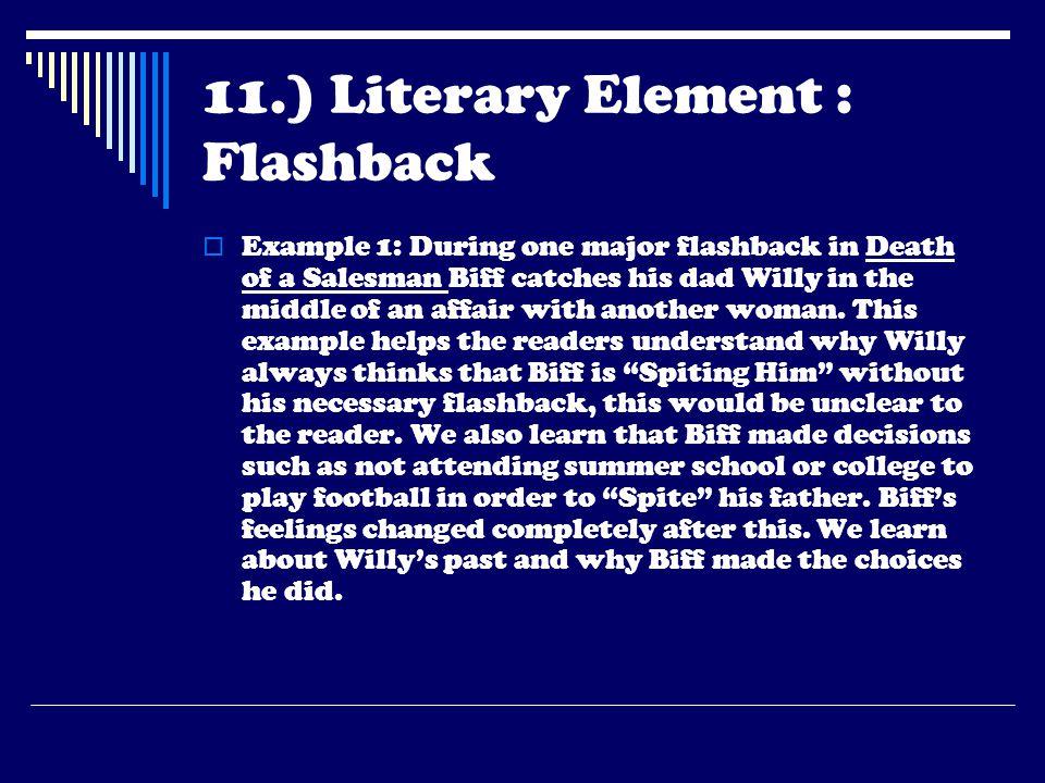 11.) Literary Element : Flashback