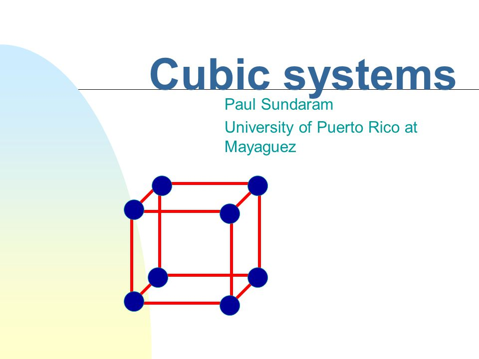 Paul Sundaram University of Puerto Rico at Mayaguez