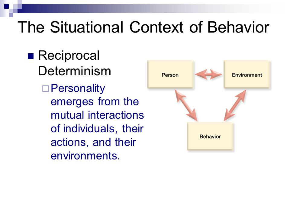 The Situational Context of Behavior