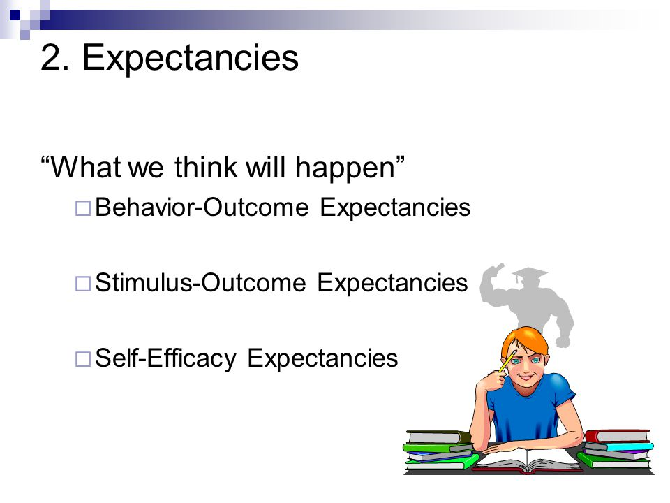 2. Expectancies What we think will happen
