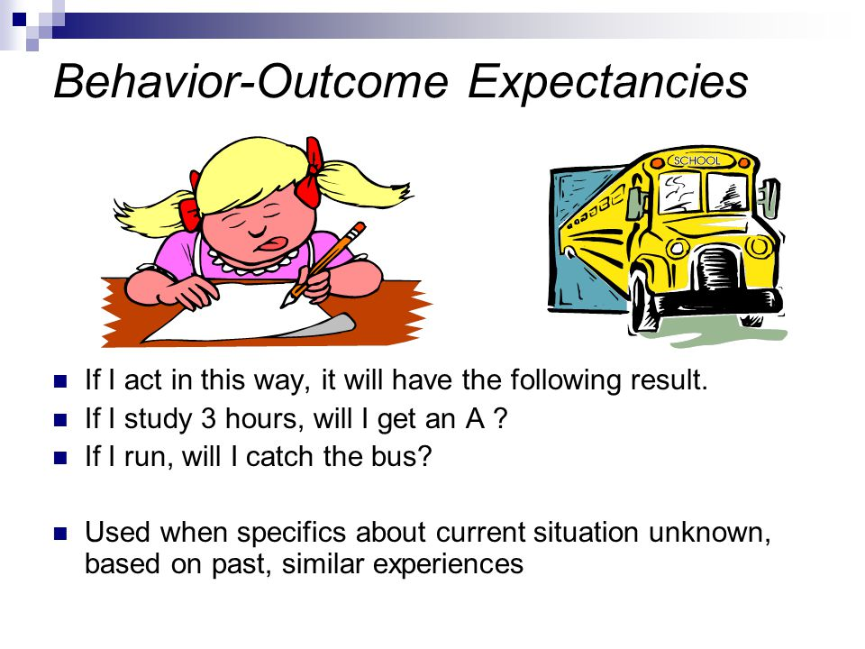 Behavior-Outcome Expectancies