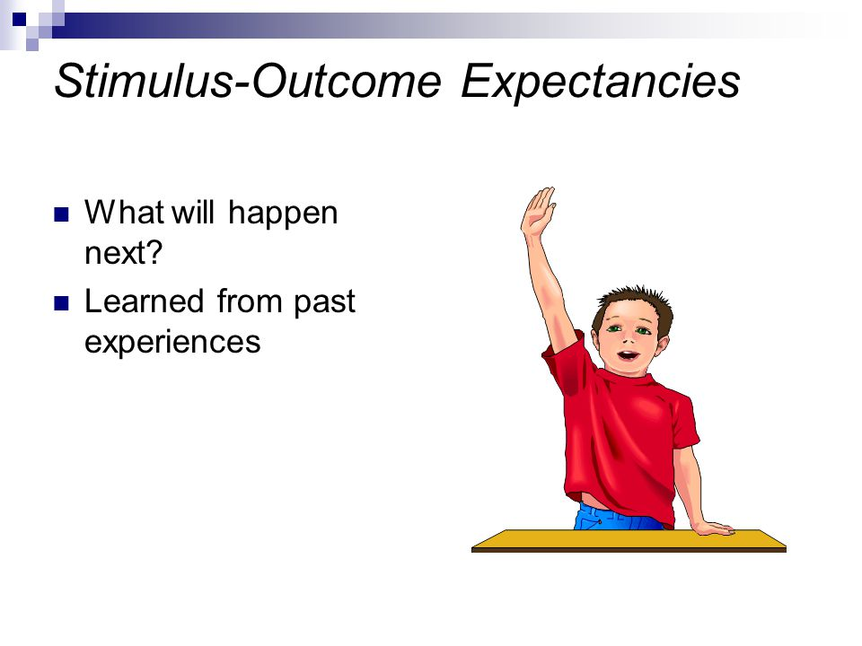 Stimulus-Outcome Expectancies
