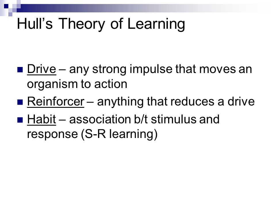 Hull's Theory of Learning