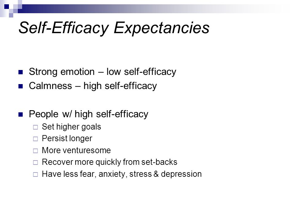 Self-Efficacy Expectancies