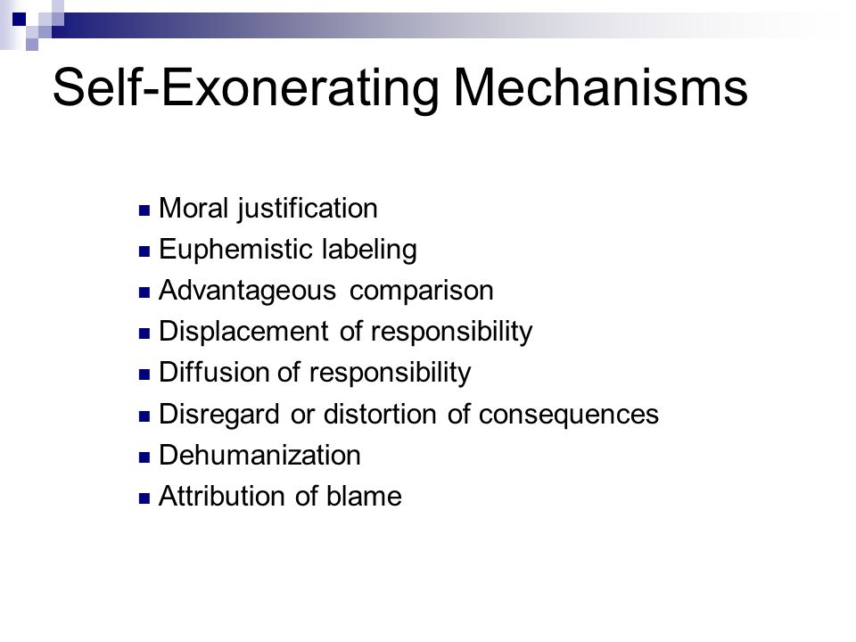 Self-Exonerating Mechanisms