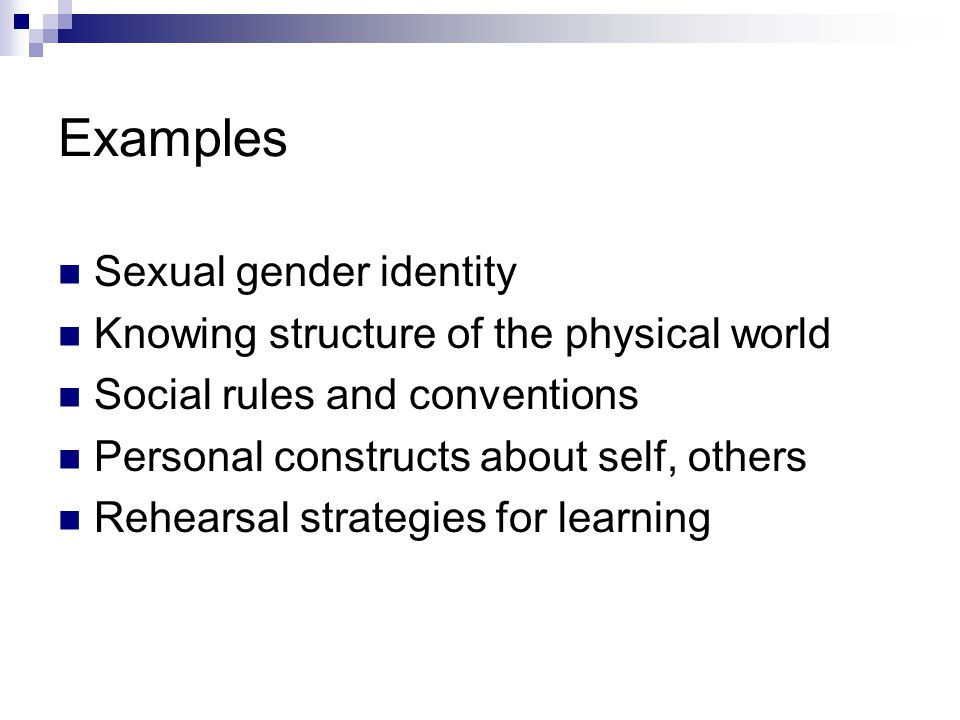 Examples Sexual gender identity