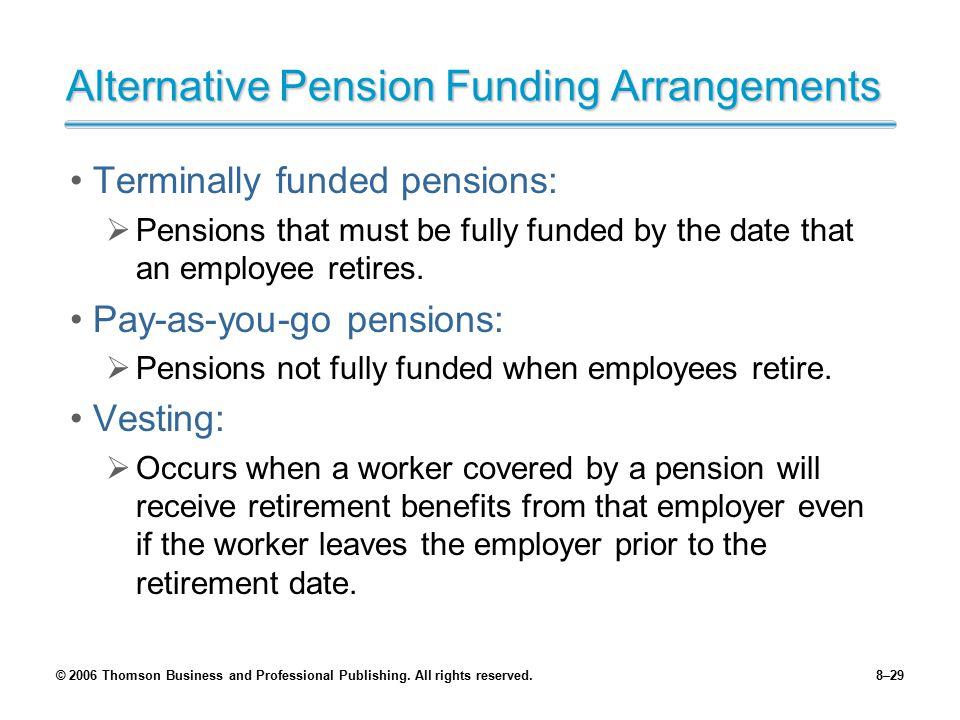 Alternative Pension Funding Arrangements