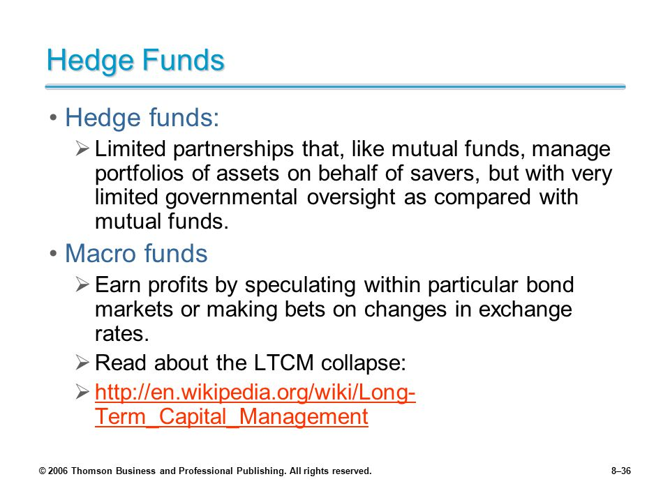 Hedge Funds Hedge funds: Macro funds