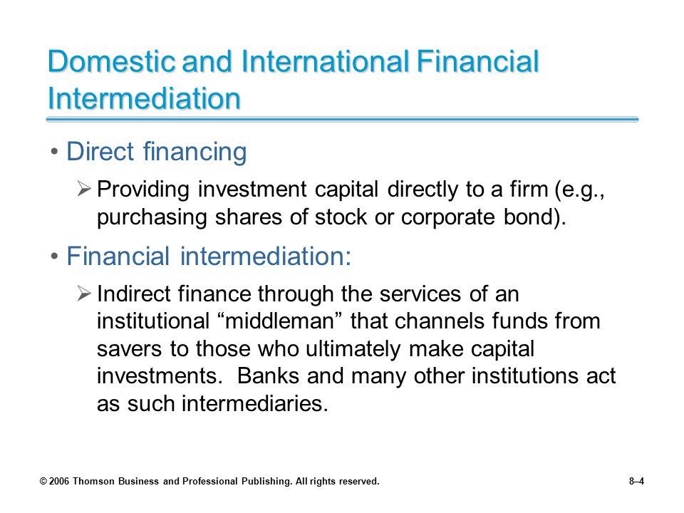Domestic and International Financial Intermediation