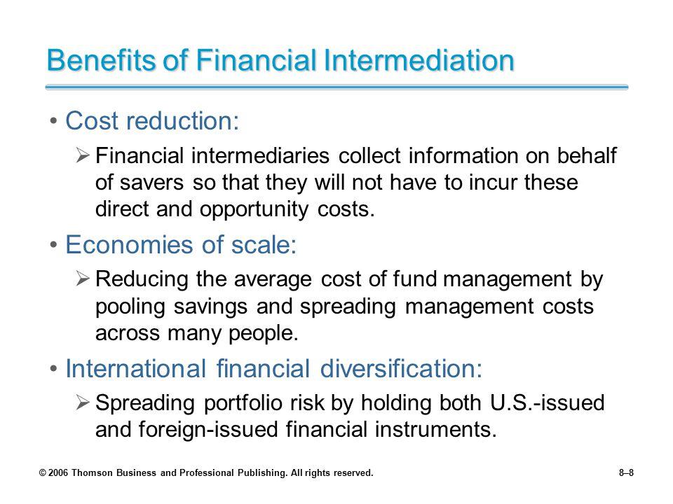 Benefits of Financial Intermediation