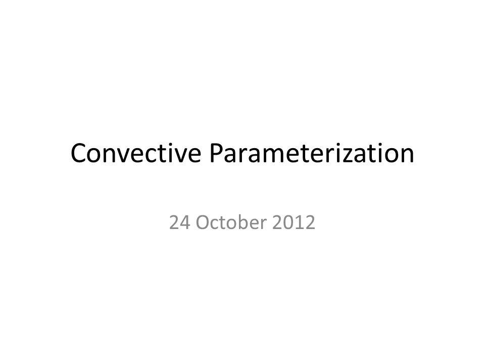 Convective Parameterization
