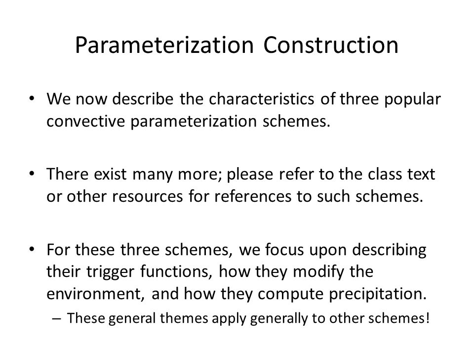 Parameterization Construction