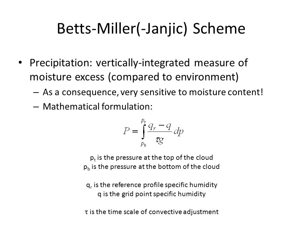 Betts-Miller(-Janjic) Scheme