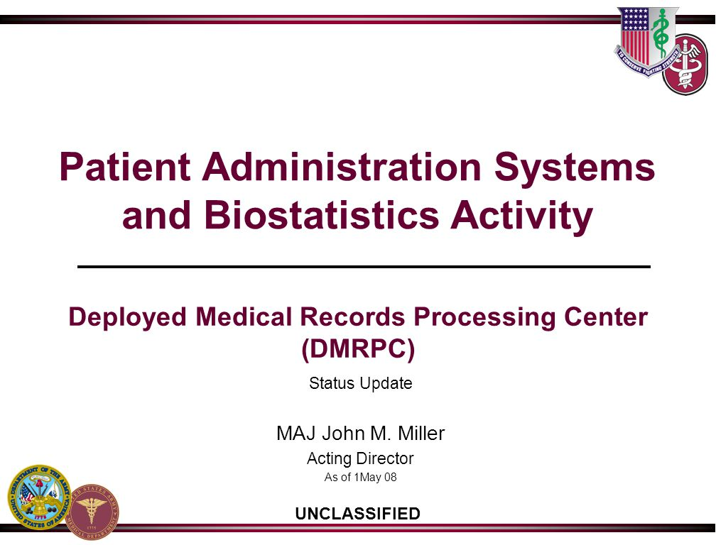 Patient Administration Systems and Biostatistics Activity