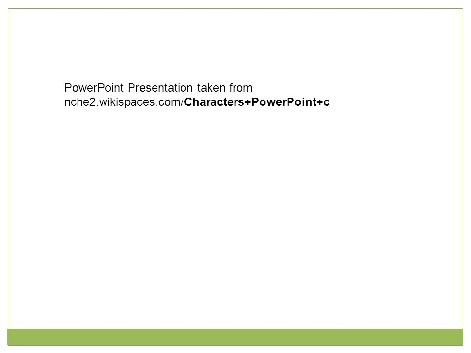 PowerPoint Presentation taken from