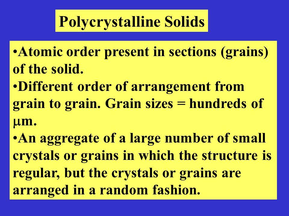 Polycrystalline Solids