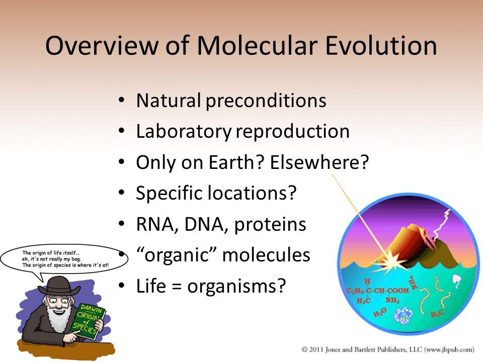 Overview of Molecular Evolution
