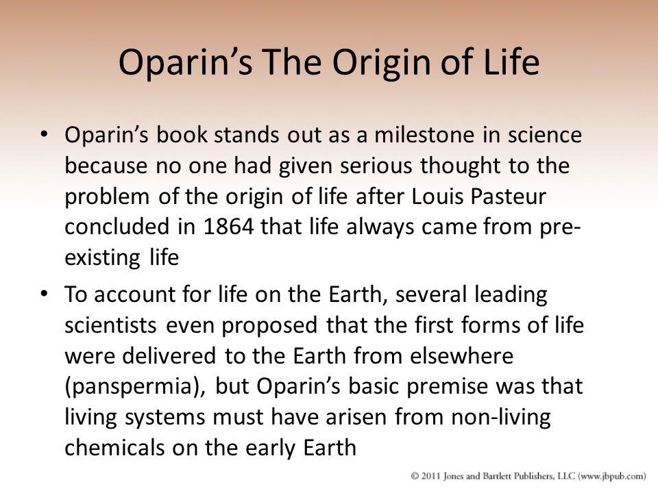 Oparin's The Origin of Life